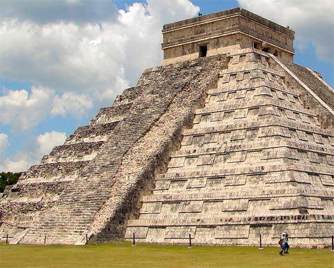 The Castle (El Castillo) at the World Heritage Site Chichen Itza.