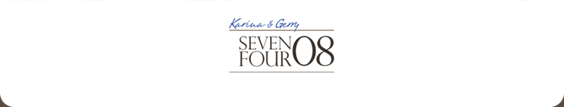 Karina and Gerry: seven-four-oh-eight